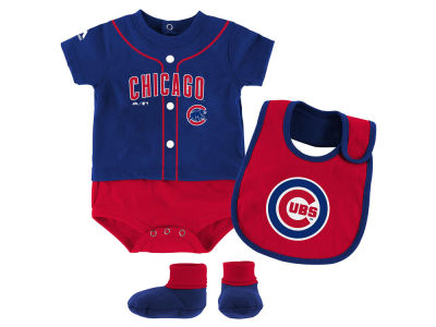 Chicago Cubs Outerstuff MLB Newborn Tiny Player Set