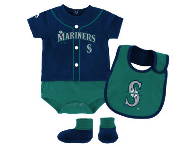 Seattle Mariners Outerstuff MLB Newborn Tiny Player Set