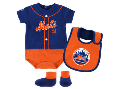 New York Mets Outerstuff MLB Newborn Tiny Player Set