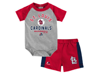 St. Louis Cardinals Outerstuff MLB Newborn Fan Favorite Short Set