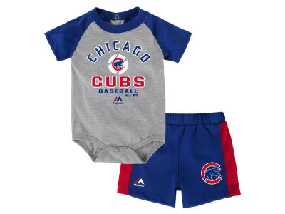 Chicago Cubs Outerstuff MLB Newborn Fan Favorite Short Set