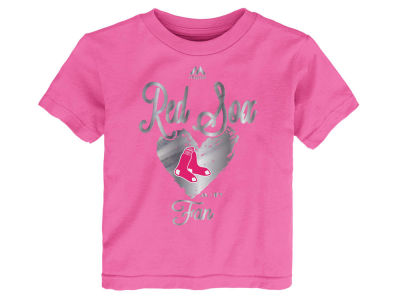Boston Red Sox Outerstuff MLB Toddler Girls Autograph T-Shirt