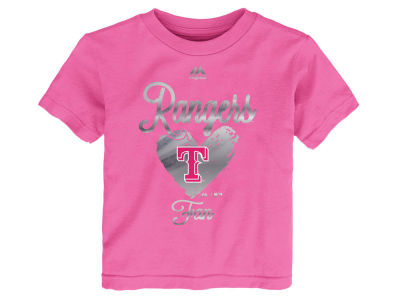 Texas Rangers Outerstuff MLB Toddler Girls Autograph T-Shirt