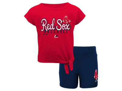 Boston Red Sox Outerstuff MLB Toddler Girls Tiny Trainer Short Set