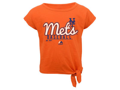 New York Mets Outerstuff MLB Infant Girls Tiny Trainer Short Set