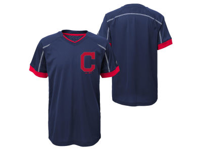 Cleveland Indians Outerstuff MLB Youth Emergence Crew T-Shirt