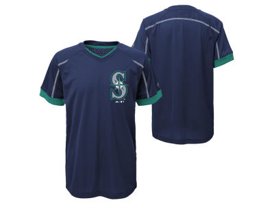 Seattle Mariners Outerstuff MLB Youth Emergence Crew T-Shirt