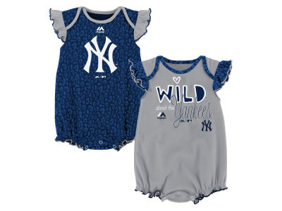 New York Yankees Outerstuff MLB Newborn Girls Team Sparkle Creeper Set