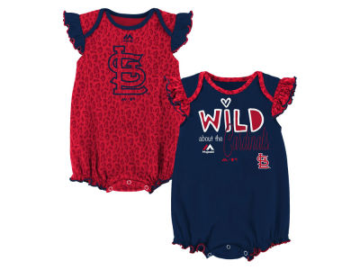 St. Louis Cardinals Outerstuff MLB Newborn Girls Team Sparkle Creeper Set
