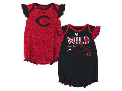 Cincinnati Reds Outerstuff MLB Newborn Girls Team Sparkle Creeper Set