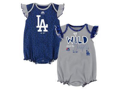 Los Angeles Dodgers Outerstuff MLB Newborn Girls Team Sparkle Creeper Set