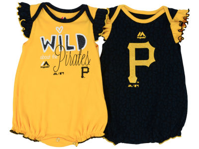 Pittsburgh Pirates Outerstuff MLB Newborn Girls Team Sparkle Creeper Set