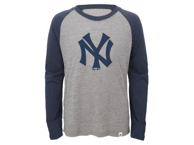 New York Yankees Outerstuff MLB Youth Margin Coop Raglan T-Shirt