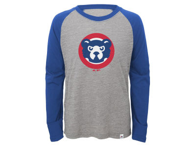 Chicago Cubs Outerstuff MLB Youth Margin Coop Raglan T-Shirt
