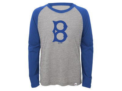 Brooklyn Dodgers Outerstuff MLB Youth Margin Coop Raglan T-Shirt