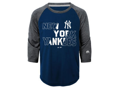 New York Yankees Outerstuff MLB Youth Box Seats Raglan Ultra T-Shirt