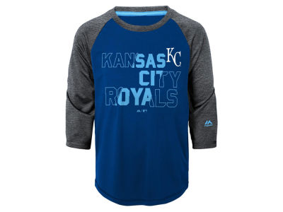 Kansas City Royals Outerstuff MLB Youth Box Seats Raglan Ultra T-Shirt