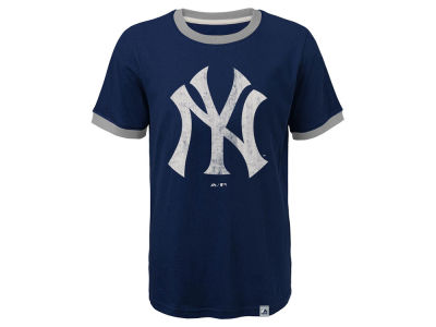 New York Yankees Outerstuff MLB Youth Baseball Stripes Ringer T-Shirt