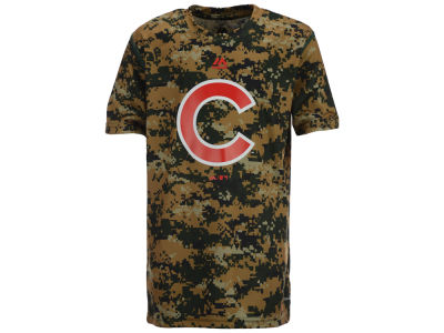 Chicago Cubs Outerstuff MLB Youth Digi Camo Sublimated Cool Base T-Shirt