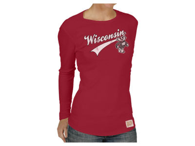 Wisconsin Badgers Retro Brand NCAA Women's Thermal Long Sleeve T-Shirt