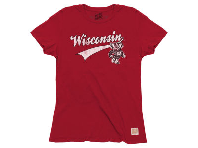 Wisconsin Badgers Retro Brand NCAA Women's Touchdown T-Shirt