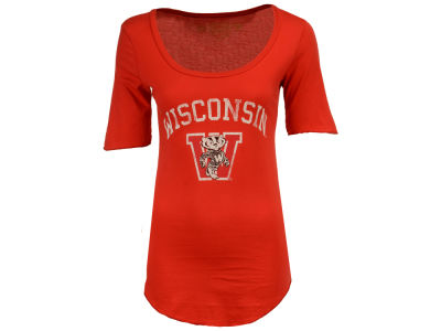 Wisconsin Badgers Retro Brand NCAA Women's Round Bottom T-Shirt