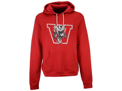 Wisconsin Badgers Retro Brand NCAA Women's Tri Hooded Sweatshirt
