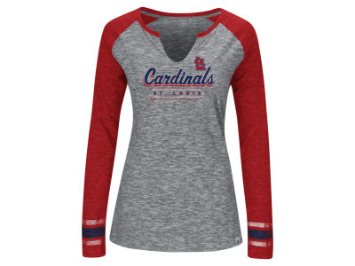 St. Louis Cardinals Majestic MLB Women's Running Out Long Sleeve T-Shirt