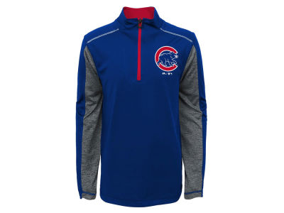 Chicago Cubs Outerstuff MLB Youth Club Series 1/4 Zip Pullover