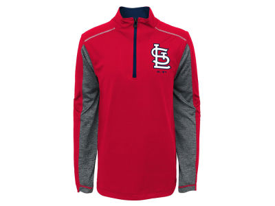 St. Louis Cardinals Outerstuff MLB Youth Club Series 1/4 Zip Pullover