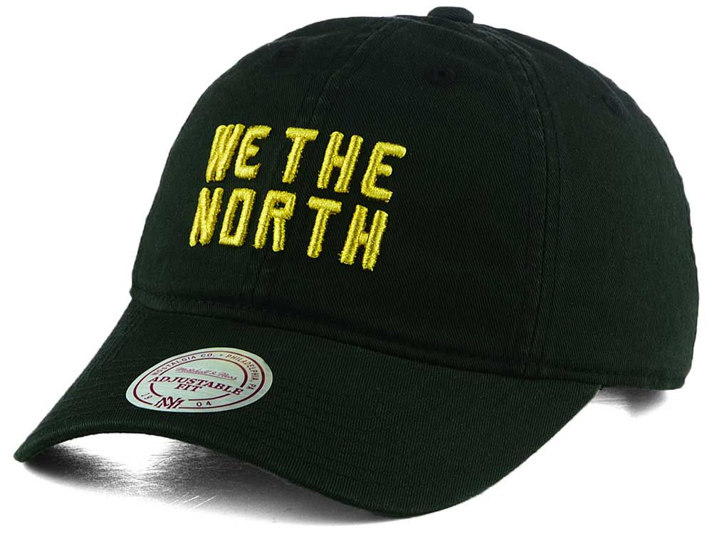 Toronto Raptors We The North Mitchell   Ness Gold Pack Dad Hat  c283555bd76