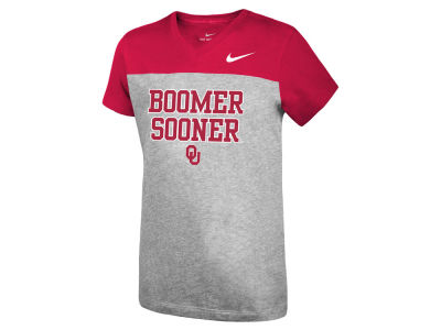 Oklahoma Sooners Nike NCAA Girls Color Block Phrase T-Shirt
