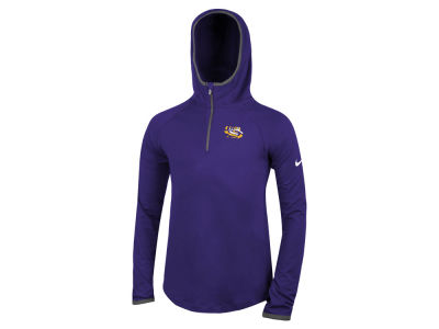 LSU Tigers Nike NCAA Girls Element Logo Zip Hoodie
