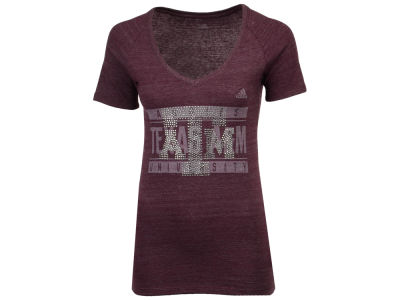 Texas A&M Aggies adidas 2017 NCAA Women's Rhinestone T-Shirt