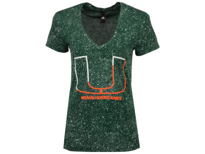 Miami Hurricanes adidas NCAA Women's Logo Stack T-Shirt