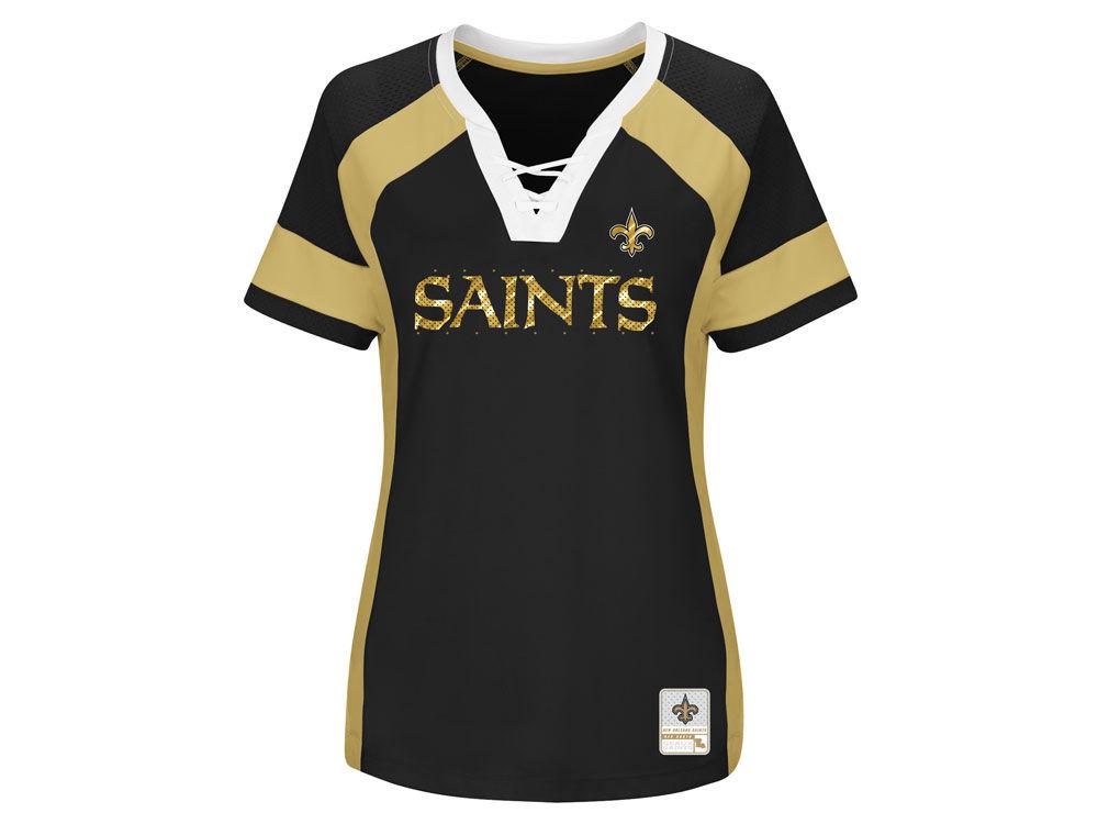 big sale 2d69c afdd4 New Orleans Saints Majestic 2017 NFL Women's Draft Me T-Shirt