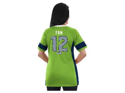 Seattle Seahawks Majestic NFL 2017 Women's Draft Him T-Shirt