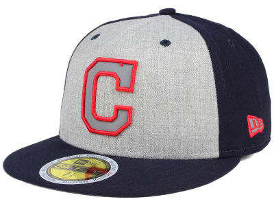 Cleveland Indians New Era MLB Heather Team Reflective 59FIFTY Cap