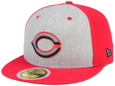 2c4092460 Cincinnati Reds New Era MLB Heather Team Reflective 59FIFTY Cap