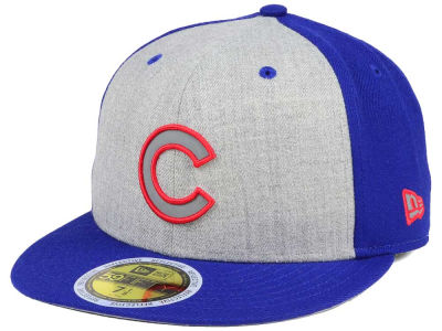 Chicago Cubs New Era MLB Heather Team Reflective 59FIFTY Cap