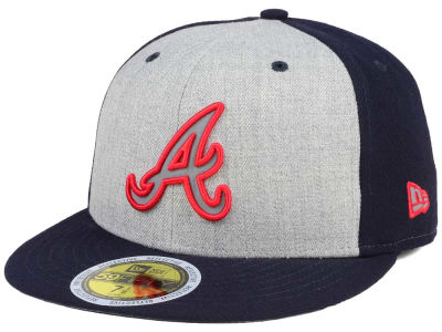 Atlanta Braves New Era MLB Heather Team Reflective 59FIFTY Cap