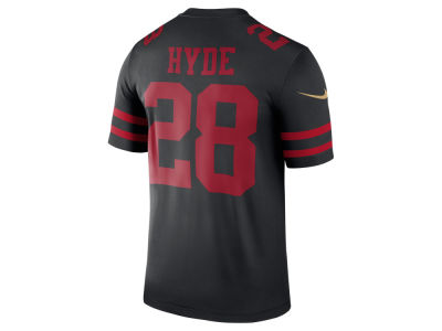 San Francisco 49ers Carlos Hyde Nike NFL Men's Legend Color Rush Jersey
