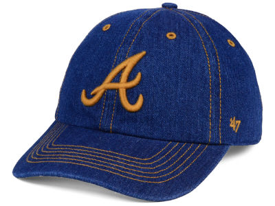 Atlanta Braves '47 MLB All Denim CLEAN UP Cap