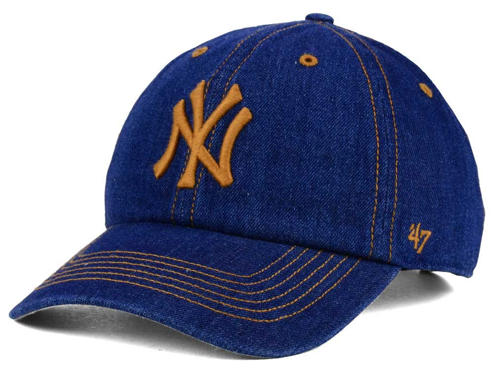 New York Yankees  47 MLB All Denim  47 CLEAN UP Cap  a2789a127ec9