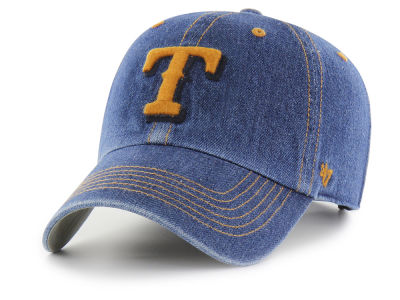 Texas Rangers '47 MLB All Denim CLEAN UP Cap