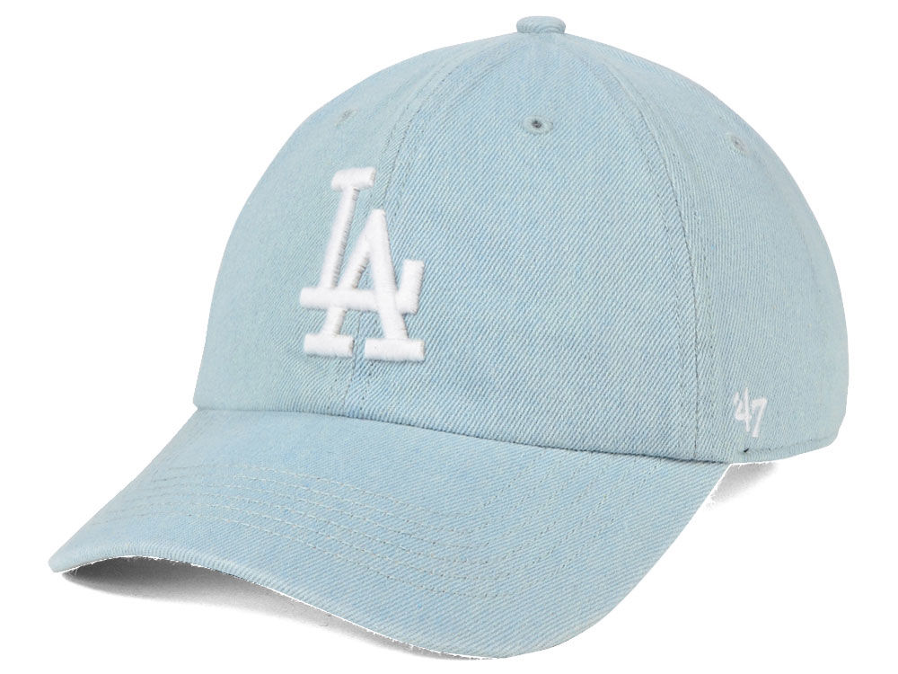 Los Angeles Dodgers  47 MLB All Denim  47 CLEAN UP Cap  3cff8c6762c0