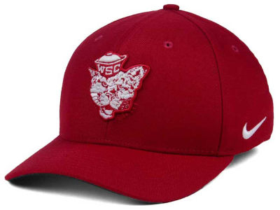 Washington State Cougars Nike NCAA Vault Swoosh Flex Cap