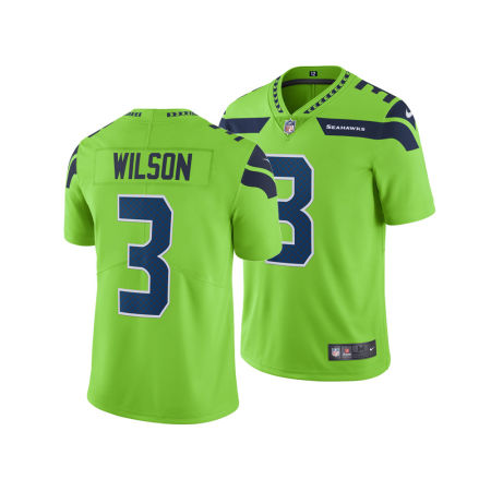 Seattle Seahawks Russell Wilson Nike NFL Men's Limited Color Rush Jersey