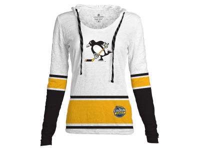 Pittsburgh Penguins 2017 NHL Women's Stadium Series Skate Lace Lucy LS T-Shirt