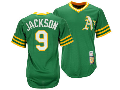 Oakland Athletics Reggie Jackson Majestic MLB Youth Cooperstown Player Jersey